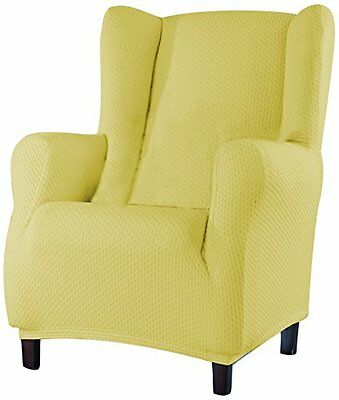 Eysa 1-Square Sucre Wing Chair, Beige