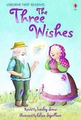NEW USBORNE First Reading ( LEVEL ONE ) the THREE WISHES paperback LEVEL1