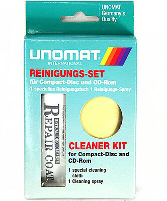 Reinigungs-Set für CD DVD Blu-Ray Disk UNOMAT CS-11 CD Cleaner KIT NEU