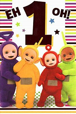 Teletubbies Age 1 Birthday Card  NEW