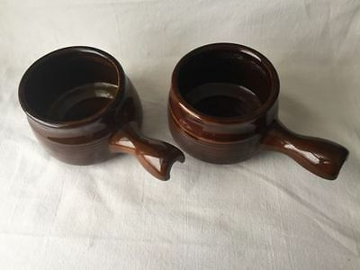 Vintage Crock/Soup/Chili Bowls Set Of 2