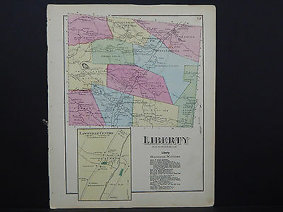 Pennsylvania, Susquehanna County Map, 1872  Liberty W17#47