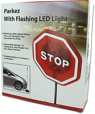 PARKEZ Flashing LED Light Parking Stop Sign For Garage 1 Pack