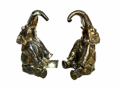 ART DECO FRENCH Elephant Cast Gilt Gold Lead Bookends Made in France 20th C.