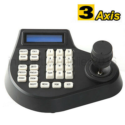 3D 3 Axis joystick keyboard controller zoom LCD Display for CCTV PTZ Dome Camera