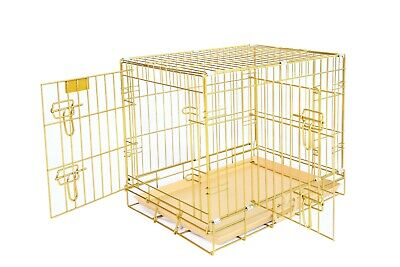 "New Homey Pet 18""-48"" Wire Folding Dog Cat Rabbit Cage Crate W or W/O Floor Grid"