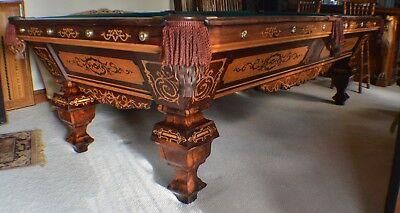 d0fa9806ac068 Antique Pool Billiard Brunswick Emanuel Brunswick 9  Pool Table c1870s