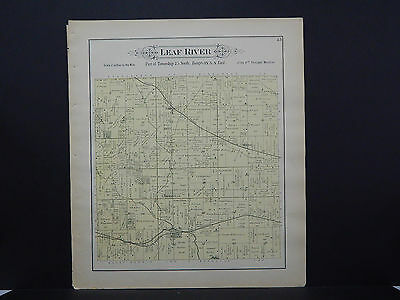Illinois, Ogle County Map, 1893 #07 Township of Leaf River