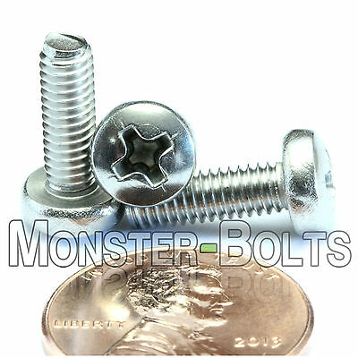 4mm (M4) - Qty 10 - Stainless Steel Phillips Pan Head Machine Screws DIN 7985A