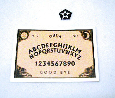 Dollhouse Miniature Ouija Board and Pentacle Star Reader 1:12 Scale