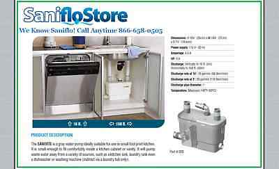 New Saniflo SANIVITE Gray Water Kitchen Bar Pump Grey 008 **In Stock!**