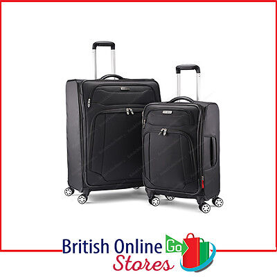 Samsonite Ultralite 2 Piece Soft Side Spinner Luggage Set in Black