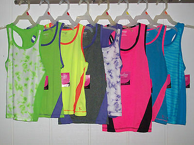 Danskin Now Youth Girls Active Poly Tank Tops - Pick sizes & colors