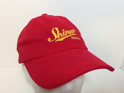 Authentic Shiner Beer Baseball Ball Cap Hat Adjustable Red