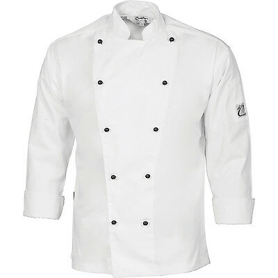 Chef Jacket White Long Sleeve DNC Comfort Traditional All Sizes XXS to 4XL Cook