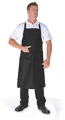 2 x Chef Cook Full Bib Black DNC Apron with Pocket Uniform - BRAND NEW