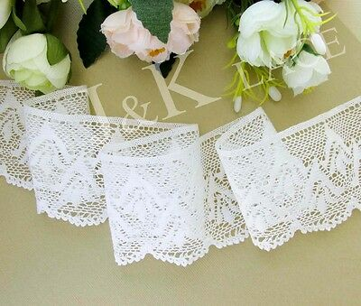 6.5 cm width Beautiful Milky White Cotton Crochet Lace Trim