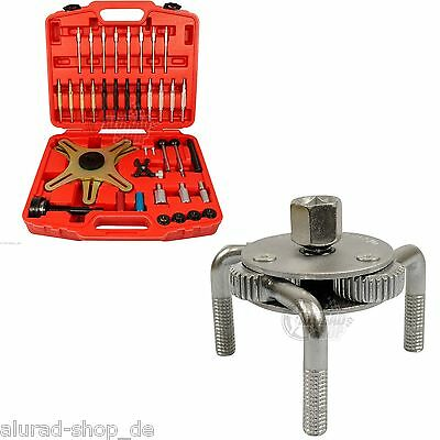 Clutch Tool Set SAC + Oil filter cap wrench 3-arm 70-120mm