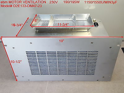 Well working in nice condition, ebm Ventilator