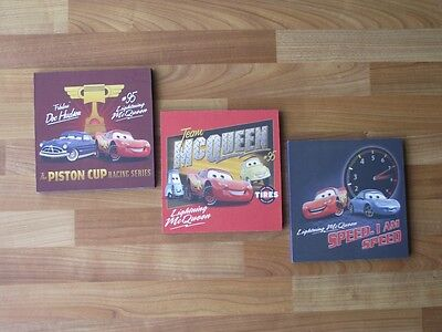 Disney Cars Lightening Mcqueen Canvas Wall Art Plaques/pictures Set Free Postage
