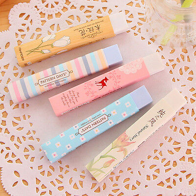 Kawaii Cartoon Pencil Erasers Writing Drawing Office School Stationery Toy Gift