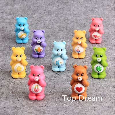 9pcs Care Bear Cute Action Figure Playset Toy Doll Cake Topper Kids Great Gift