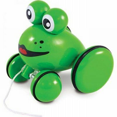 NEW Cute, Simple Kids Fun Indoor Play Youpla The Frog Pull-along Toy by Vilac