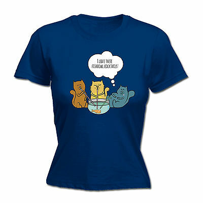 I Love These Fishbowl Cocktails WOMENS T-SHIRT cat kitten fish mothers day gift