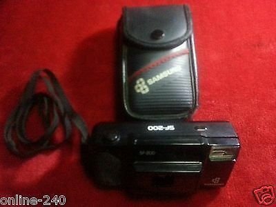 Vintage Samsung (Sf-200) 35Mm Fully Automatic Film Camera With Strap And Case
