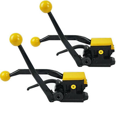 """2X NEW Manual A333 Steel Strapping Combinatio Tool Machine For 1/2""""-3/4"""" Straps"""