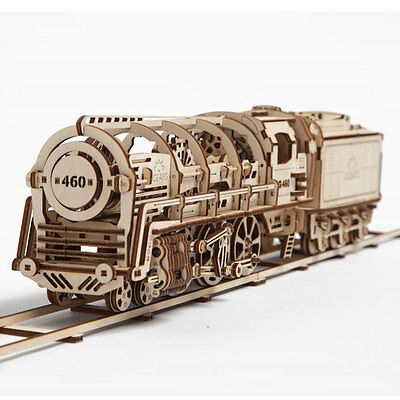 Ugears 460 Locomotive + Tender