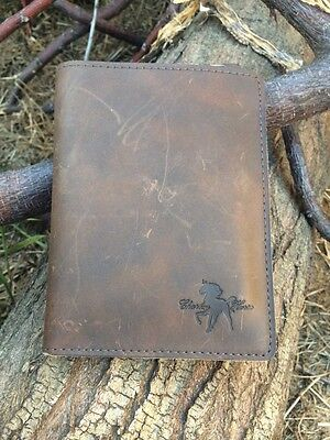 REAL Crazy Horse Leather Passport Holder Cover Quality Business Travel Wallet