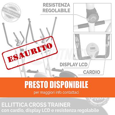 Offerta Cyclette Ellittica Elliptical Cross Trainer Magnetica Cardio Fitness