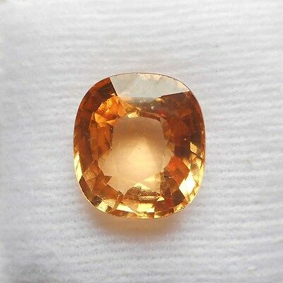 5.90cts Natural UNHEATED UNTREATED Oval HESSONITE GARNET Loose Gemstone Ceylon