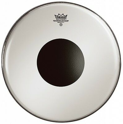 Remo Controlled Sound Smooth White Tom or Snare Drum Head Skin with Black Dot