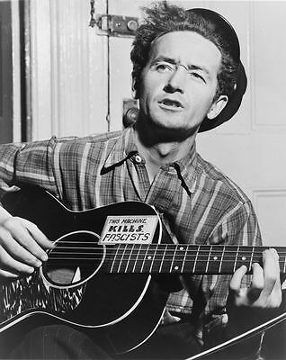 Woody Guthrie Folk Singer Guitarist Glossy Photo Music Print Poster A4