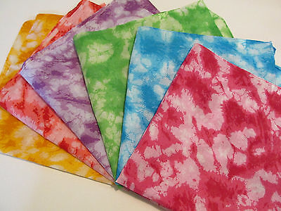 12 TIE-DYED Polyester BANDANNAS BANDANAS party supplies FREE S/H tie-dye scarf
