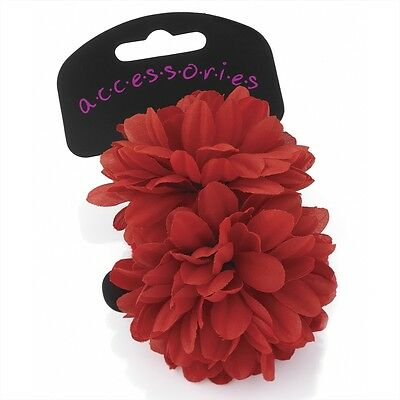 Ladies Girls Two Piece Flower Bobble Ponio Set Hair Accessory Floral Large Small