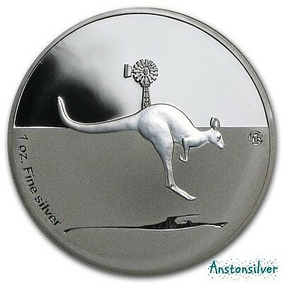 2013 Kangaroo in Outback 1 oz Silver Proof - 15 Privy Mark