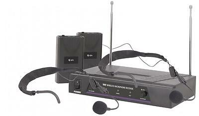 QTX 171.819 VN2 Dual Neckband VHF Wireless Microphone System 50 Metre Range New