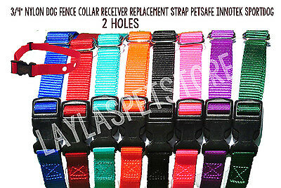 PETSAFE LARGE Electric Fence Nylon Replacement Dog Collar 2 Hole 1.25 Apart
