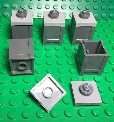 Trash Can City Street Utensil Parts Lego 8 Pieces Reddish Brown Container Box