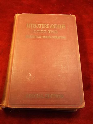 """Old Vtg Antique 1932 Book """"literature And Life"""" Book Two, Special Edition"""