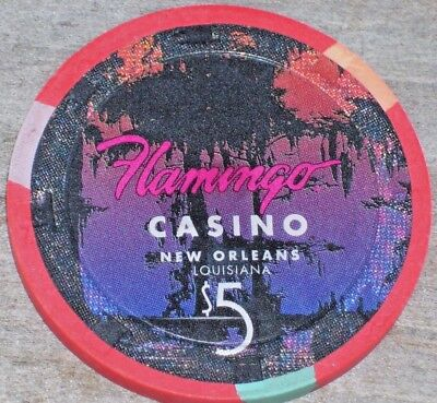 $5 Gaming Chip From The Flamingo Casino New Orleans La