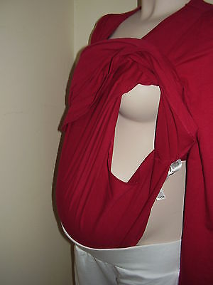New Maternity Discreet double Layer Nursing Breastfeeding Top UK Size 12