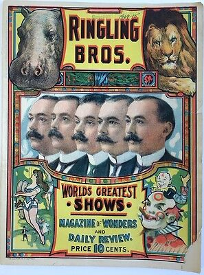 Ringling Brothers Magazine of Wonders and Daily Review Early 1900's RARE