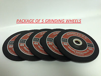 "Professional Quality 7"" (180mm) Center Depressed Grinding Wheels Made in England"