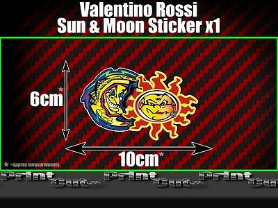 Valentino Rossi Sun and moon Sticker X1 Moto GP The Doctor Fumi 46 vale racing