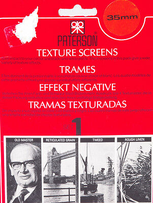 TRAMES PATERSON 35mm SET n°1 - TEXTURES SCREENS PATERSON