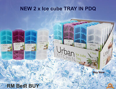 NEW 2 x Ice cube TRAY for Cool Drink Brand NEW